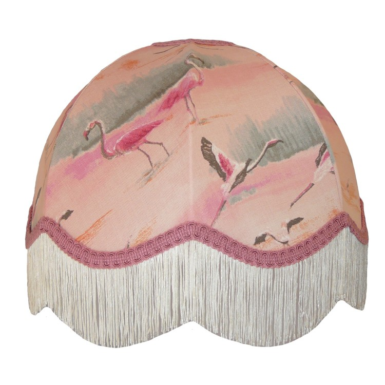 Pink Flamingo Dome Fabric Lampshades