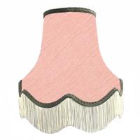 Pink and Grey Fabric Lampshades