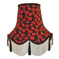 Black Tassel Poppy Fabric Lampshades