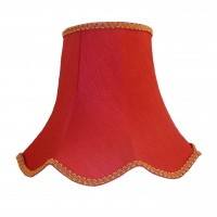 Rosso Red and Gold Modern Fabric Lampshades