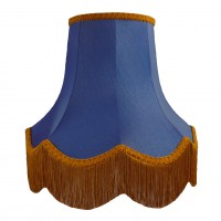 Royal Blue and Gold Fabric Lampshades