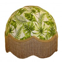 Green Tropical Leaf Dome Fabric Lampshades