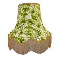 Green Tropical Leaf Lampshade