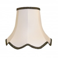 White With Black and Gold Modern Fabric Lampshades