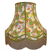 Exotic Peacock Cream Fabric Lampshades