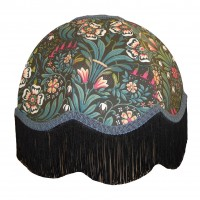 William Morris Black Dome Fabric Lampshades