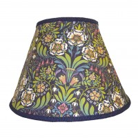 William Morris Blue Contemporary Fabric Lampshades