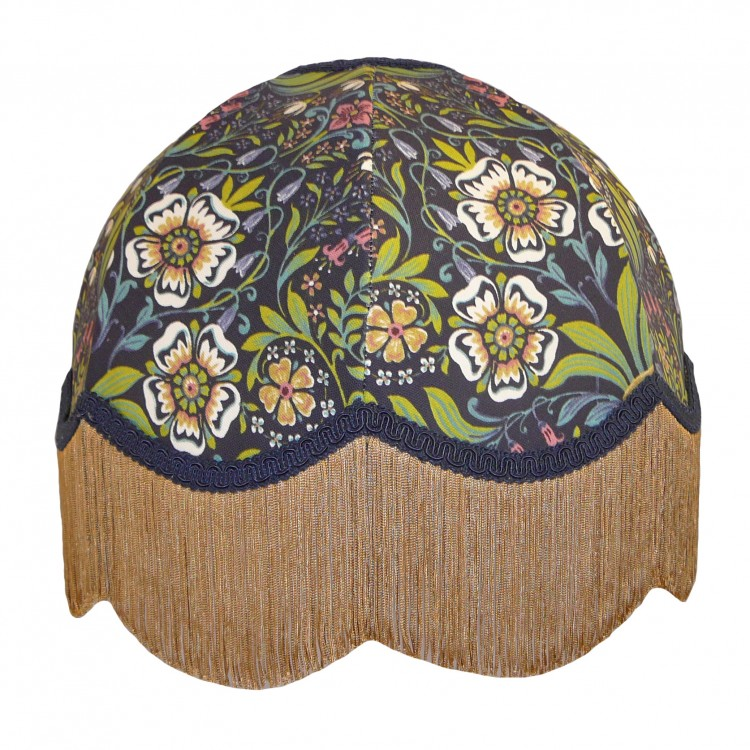 William Morris Blue Dome Fabric Lampshades
