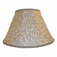 William Morris Willow Bough Light Grey Contemporary Fabric Lampshades