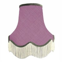 Wisteria Purple and Grey Fabric Lampshades