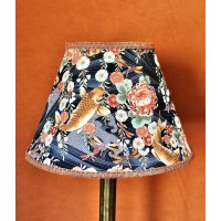 Oriental Koi Carp and Orange Contemporary Fabric Lampshades