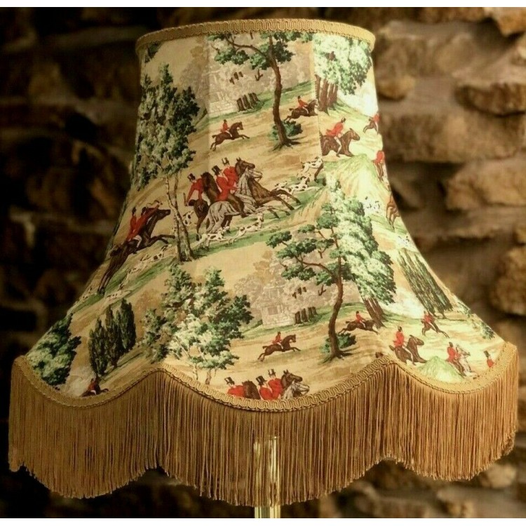 Sanderson Tally Ho Hunting Scene Fabric Lampshades