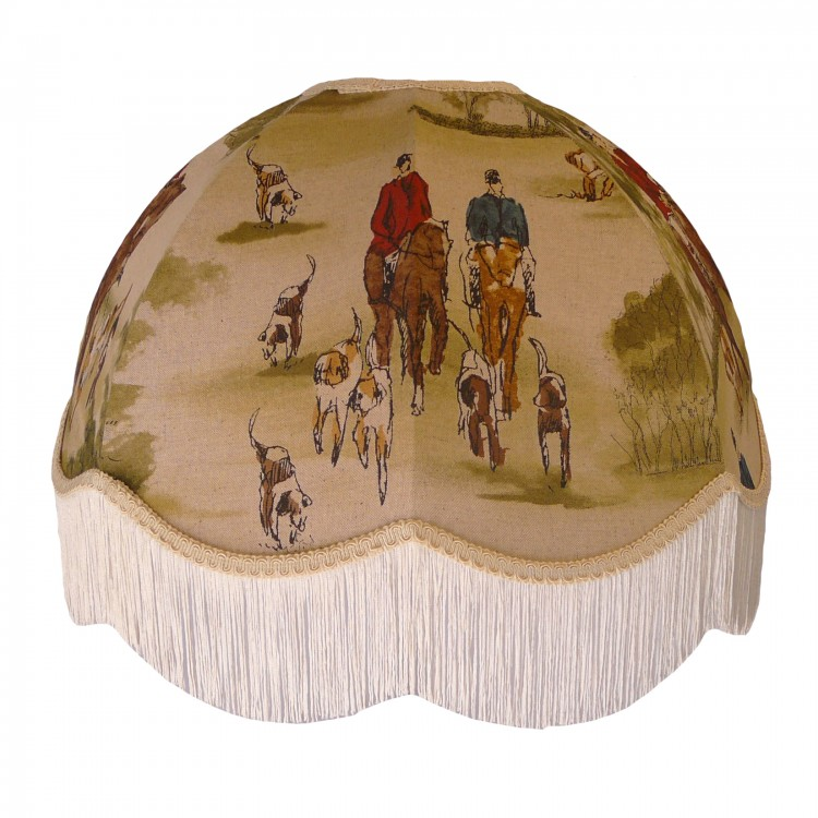 Tally Ho Hunting Scene Dome Fabric Lampshades