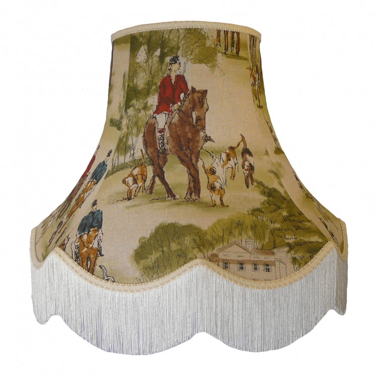 Tally Ho Hunting Scene Fabric Lampshades