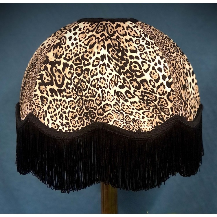 Beige Leopard Animal Print Dome Fabric Lampshades