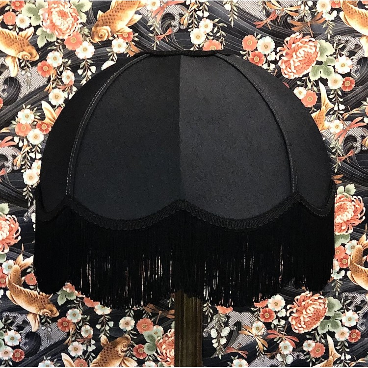 Black Dome Fabric Lampshades