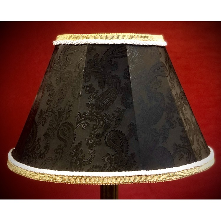 Paisley Black and Cream Contemporary Fabric Lampshades