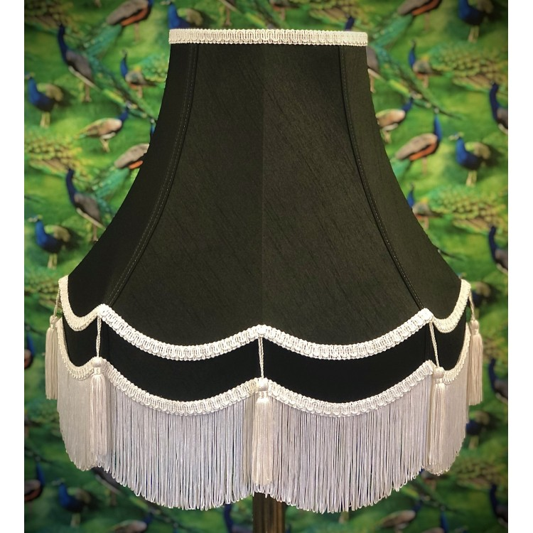 Black and White Double Fabric Lampshades