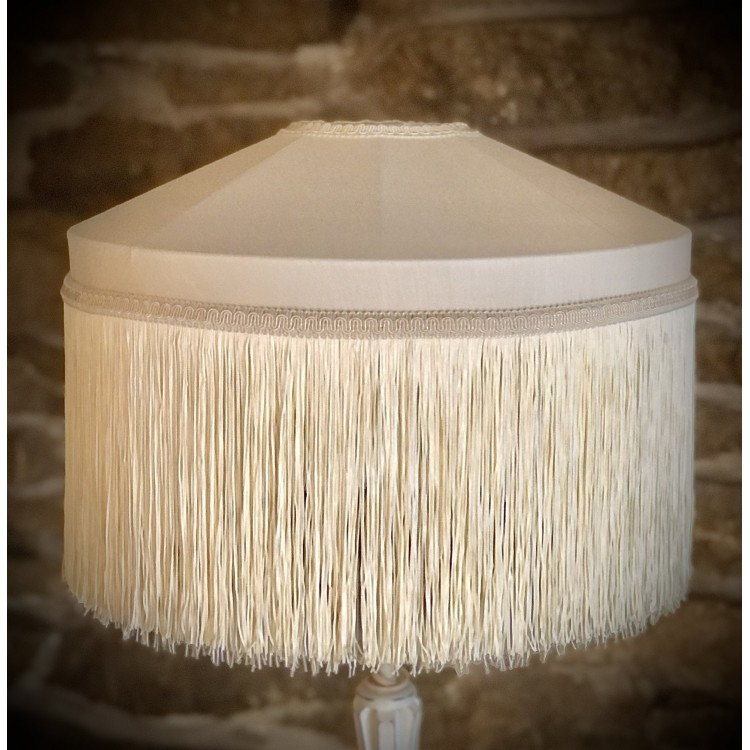Cream Tiffany Fabric Lampshades