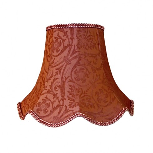 Deep Pink Brocade Modern Fabric Lampshades