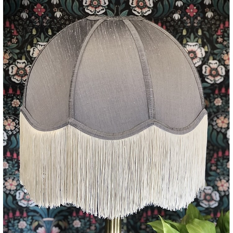 Flint Grey Dome Fabric Lampshade