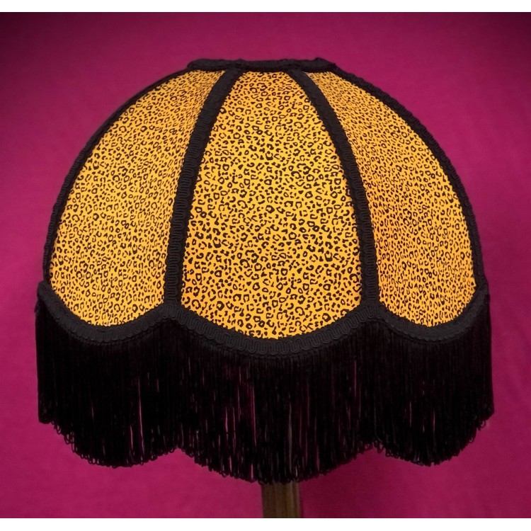 Gold and Black Animal Print Dome Fabric Lampshades