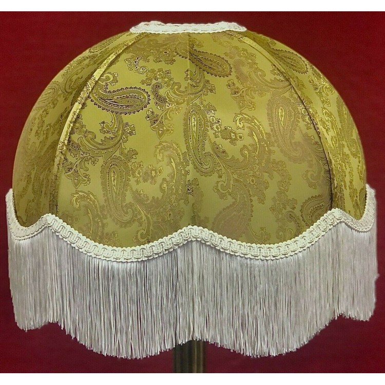 Paisley Gold and Cream Dome Fabric Lampshades
