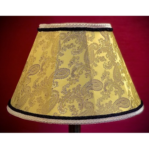 Paisley Gold and Black Contemporary Fabric Lampshades