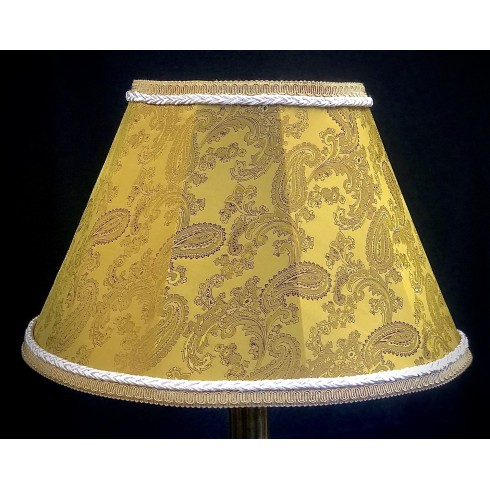 Paisley Gold and Cream Contemporary Fabric Lampshades