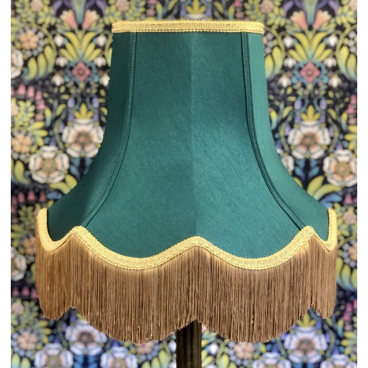 Holly Green and Gold Fabric Lampshades