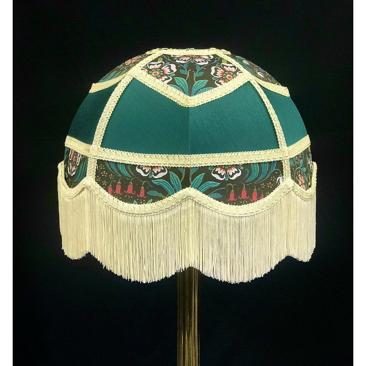 Holly Green and William Morris Panelled Fabric Lampshade
