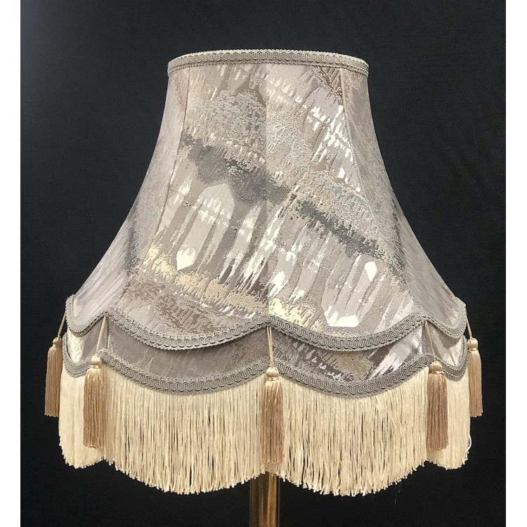 Moroccan Silver and Coffee Double Fabric Lampshades