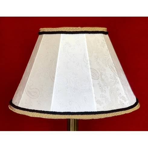 Paisley Ivory and Black Contemporary Fabric Lampshades