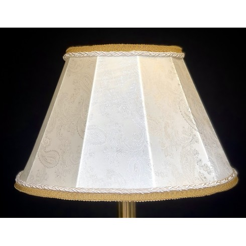 Paisley Ivory and Cream Contemporary Fabric Lampshades