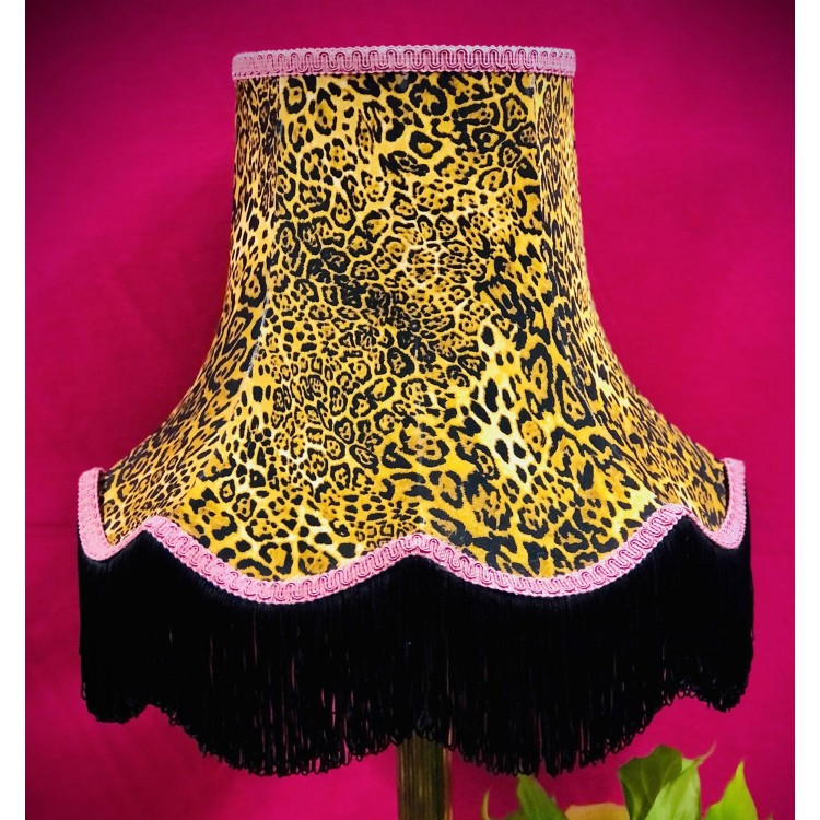 Leopard Animal Print and Pink Fabric Lampshades