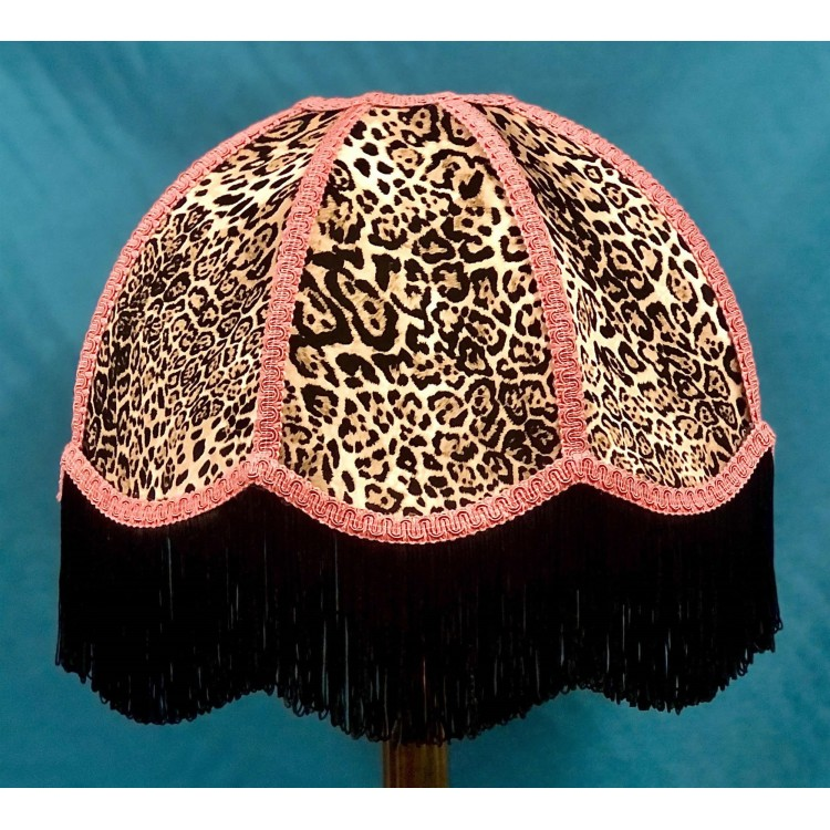 Lynx Animal Print and Pink Dome Fabric Lampshades