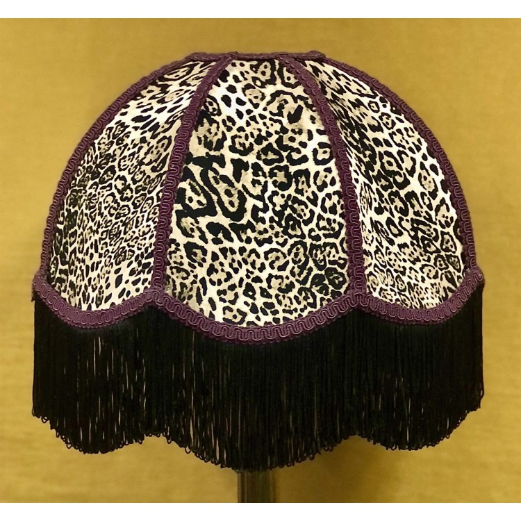 Lynx Animal Print and Purple Dome Fabric Lampshades
