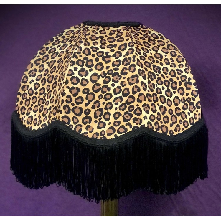 Lynx Animal Print Dome Fabric Lampshades