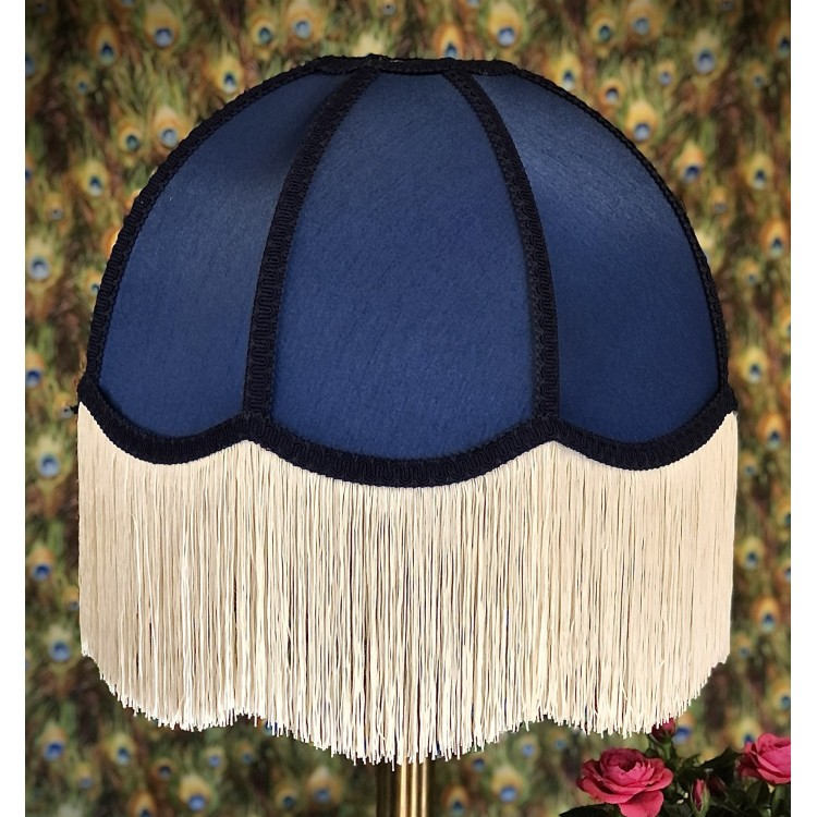 Navy Blue Dome Fabric Lampshade