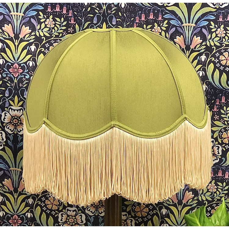 Olive Green Dome Fabric Lampshades