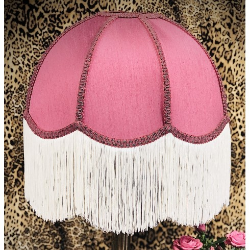 Pink Dome Fabric Lampshade
