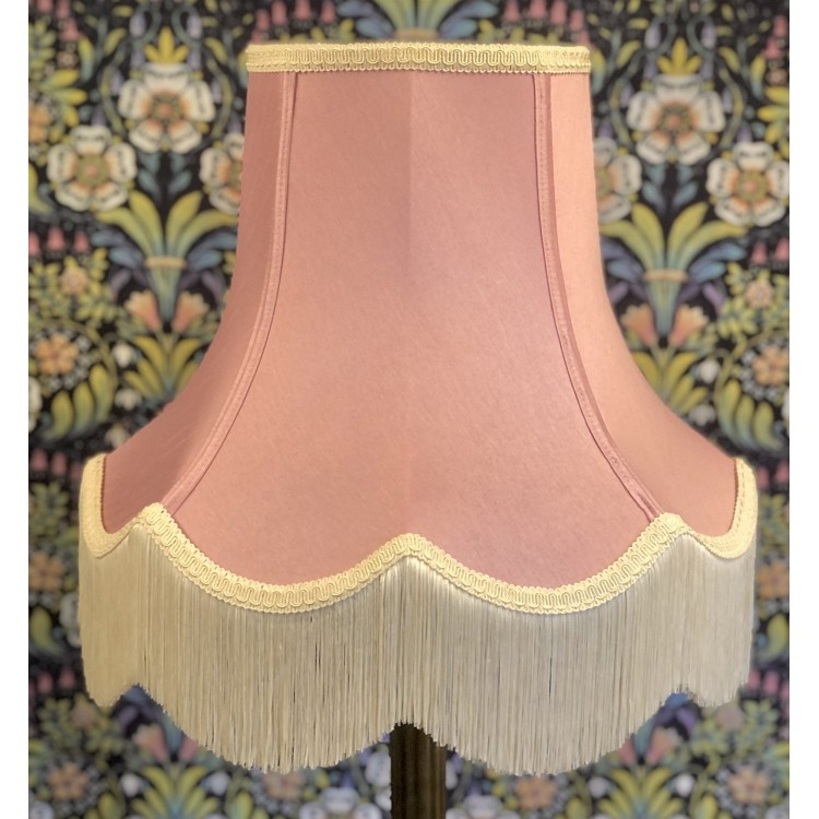 Pink and Cream Fabric Lampshades