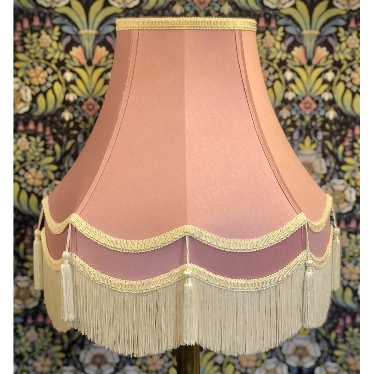 Pink and Cream Double Fabric Lampshades