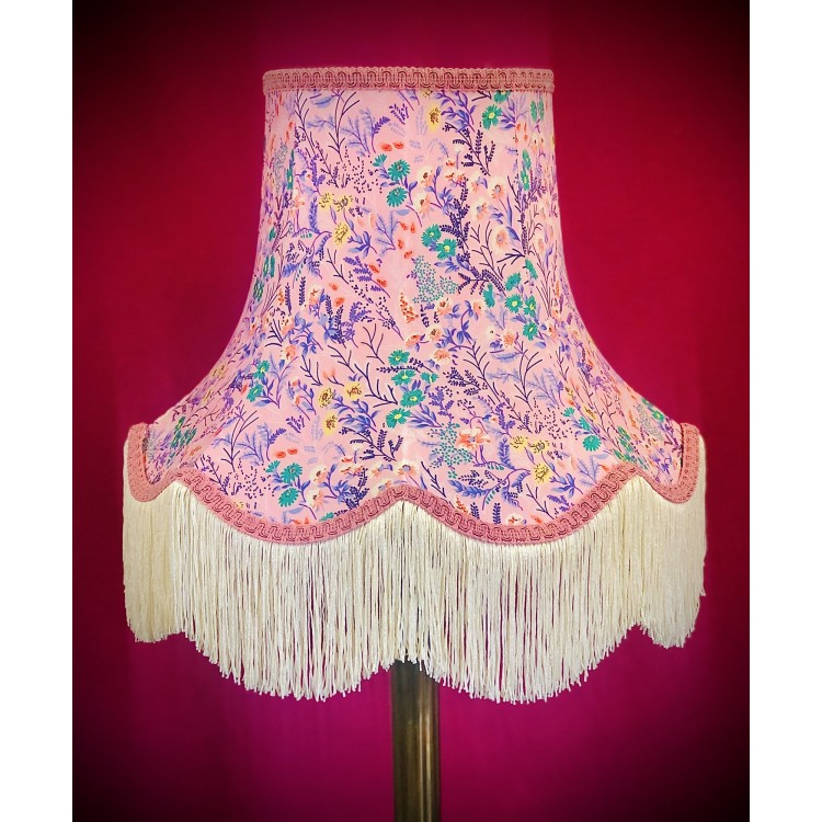Pink Floral Fabric Lampshades