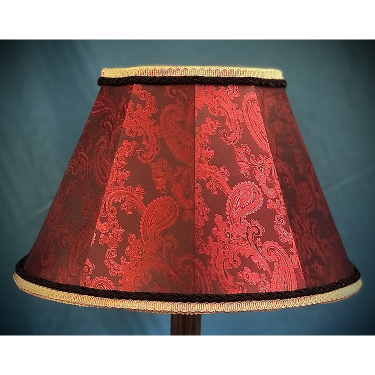 Paisley Red and Black Contemporary Fabric Lampshades