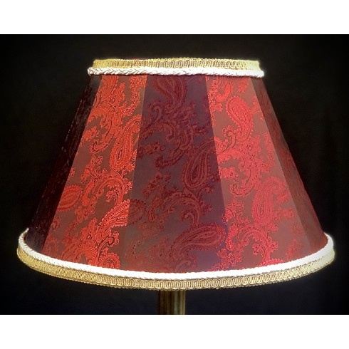 Paisley Red and Cream Contemporary Fabric Lampshades