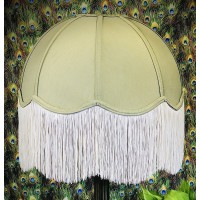 Sage Green Dome Fabric Lampshade