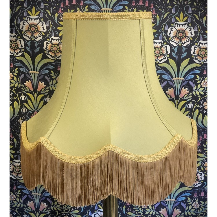 Sage Green and Gold Fabric Lampshades