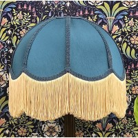 Slate Blue Dome Fabric Lampshades
