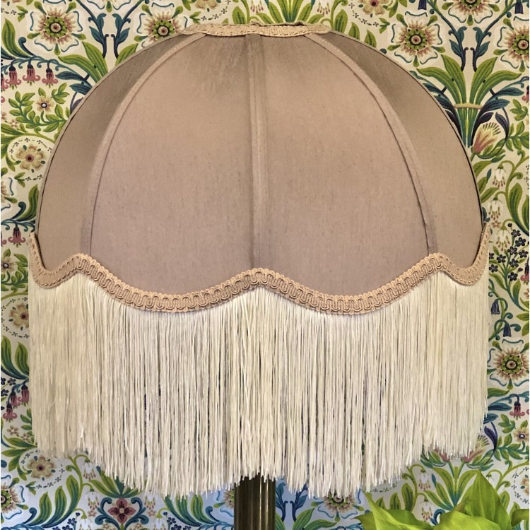 Taupe Dome Fabric Lampshade